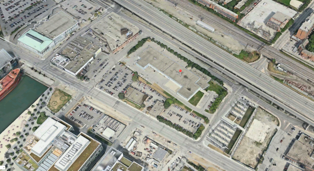 The pin shows the property to be redeveloped, image retrieved from Apple Maps