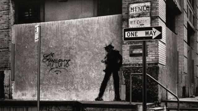 Richard Hambleton's shadowmen became ubiquitous in New York in the 1980s