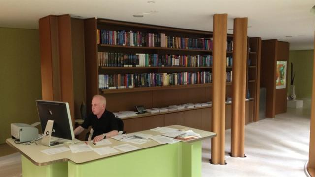 James Stewart in his office at Integral House, image courtesy of Hot Docs