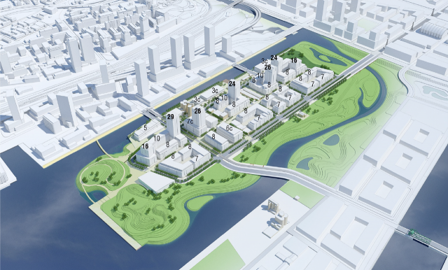 Villiers Island Precinct Plan, Urban Strategies, Toronto, Port Lands