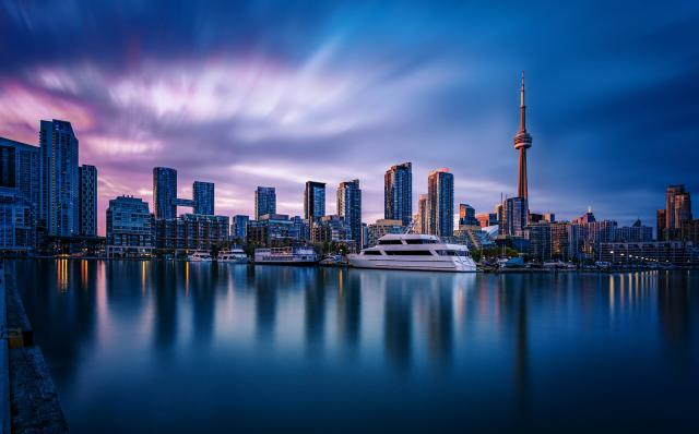 Photo of the Day, Toronto, skyline, waterfront, dusk