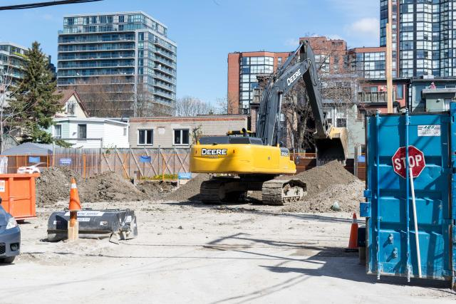 Excavation at 90 Niagara, image by Alexander Vu