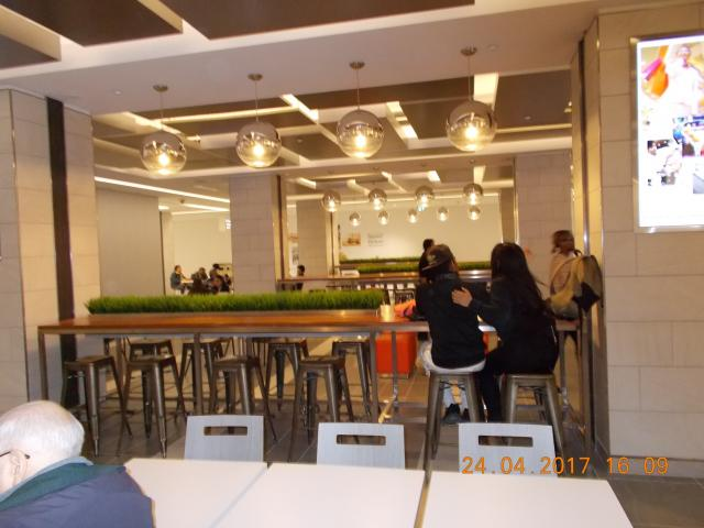 Food court seating has been completed recently at the Yonge Sheppard Centre, ima