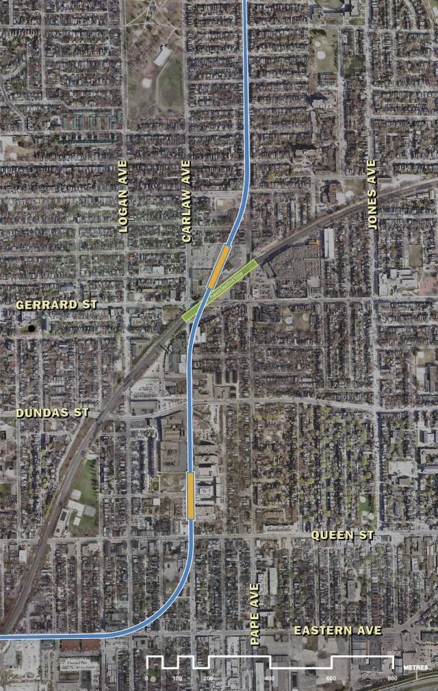 New recommended Relief Line alignment, approved today