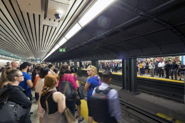 A crowded Bloor-Yonge Station, which could be relieved by the Relief Line
