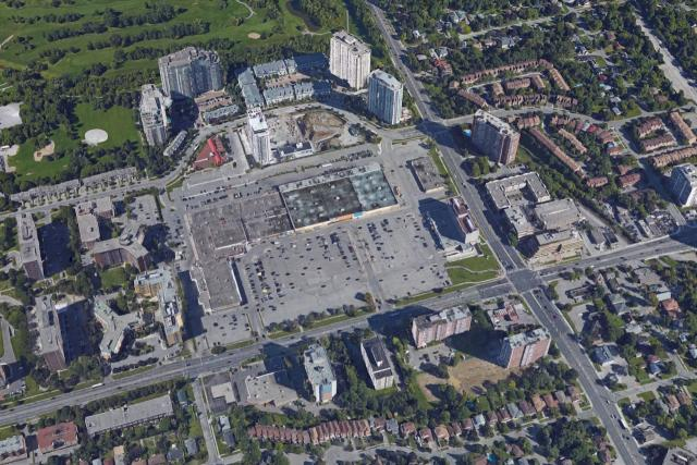 Agincourt Mall as seen in Google Maps, 3D View