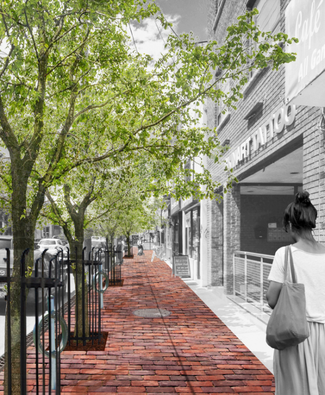 Conceptual Renderings of College Street, image courtesy of PMA Landscape Archite