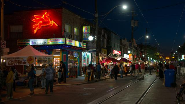 A night shot of Little India, image via UT Flickr contributor Frank Lemire