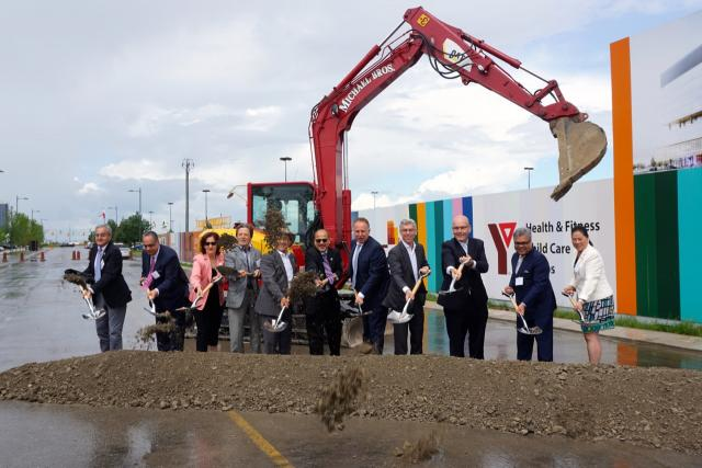 Ground breaking ceremony for the Vaughan Centre PwC Tower, YMCA, Public Library
