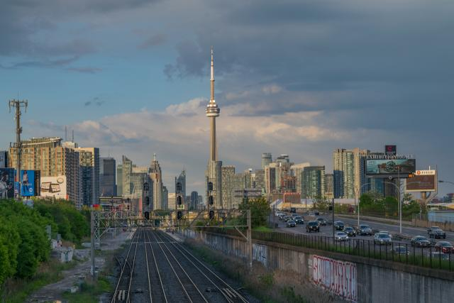 Toronto's evening skyline, image by Greg Lipinski