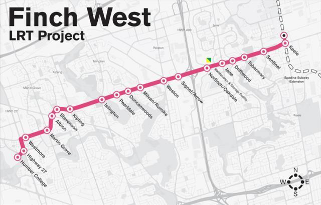 Government of Canada funding Finch West LRT
