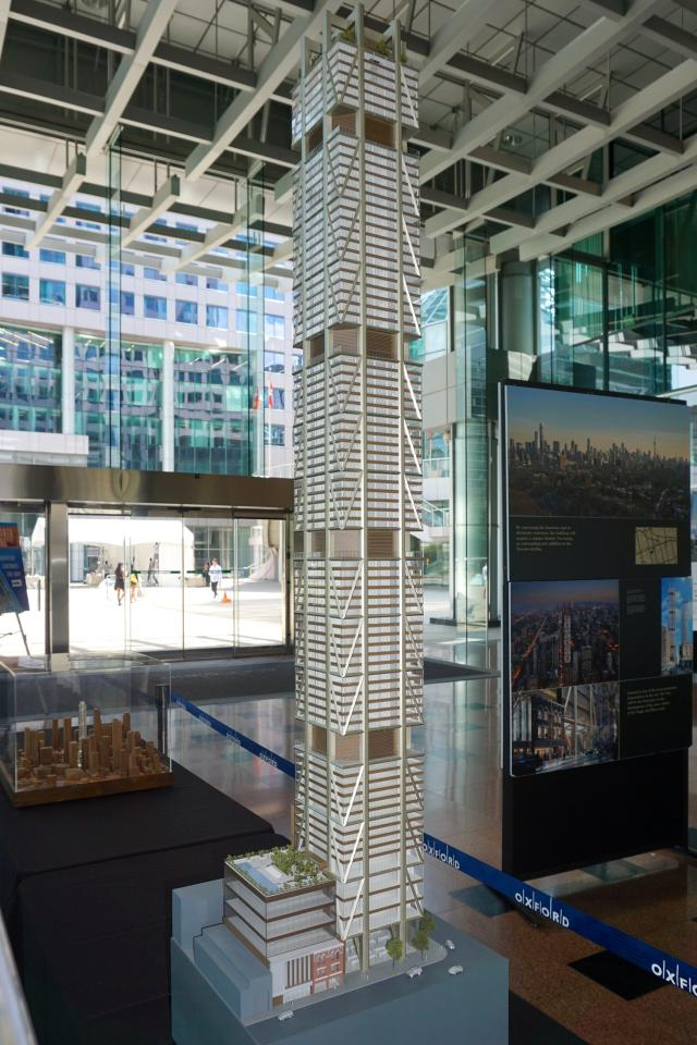 Scale model of The One in the Winter Garden at 225 King West, Toronto