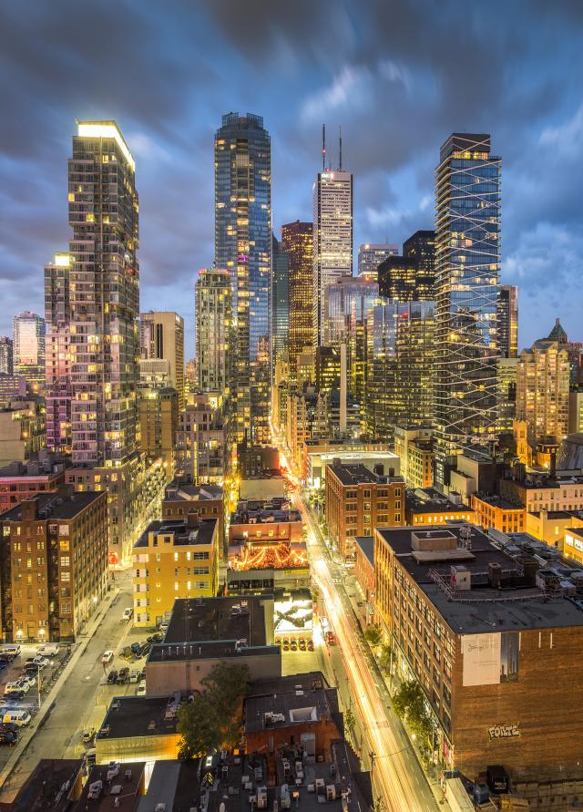 Photo of the Day, Toronto, skyline, dusk, Entertainment District