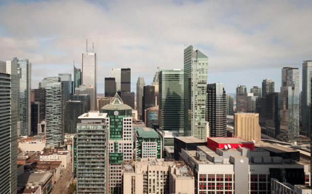 Toronto towers in Spring, image by Jack Landau
