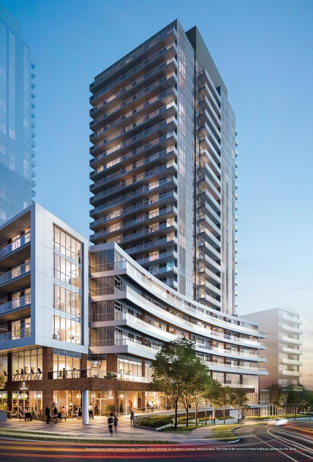 The Point, Emerald City, Toronto, by ELAD Canada, WZMH Architects