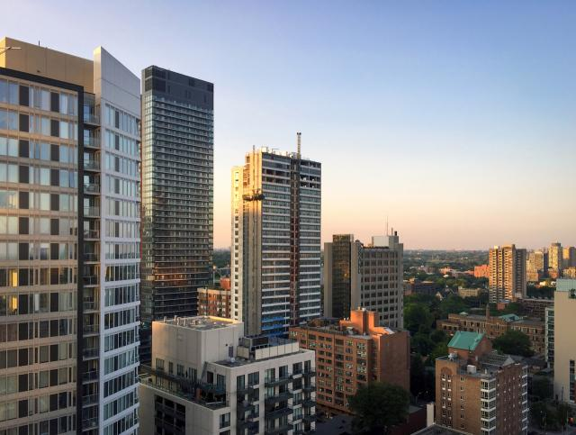 Photo of the Day, Jarvis, sunset, Ryerson, Pace, Core, Toronto
