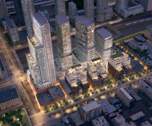 The Well, HPA, AAA, BDP Architects, aA, Diamond Corp, Allied, RioCan, Toronto
