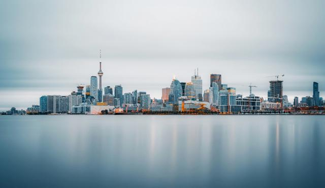 Photo of the Day, Toronto, skyline, long expsure, Port Lands