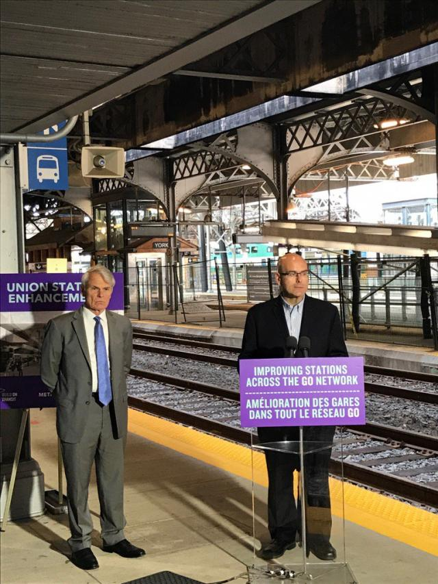 Ontario Government announces improvements to Union Station and other GO stations