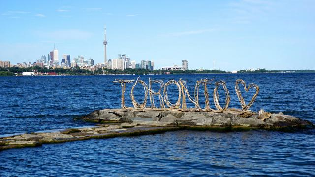 Photo of the Day, Toronto skyline, Humber Bay Shores Park, TORONTO sign