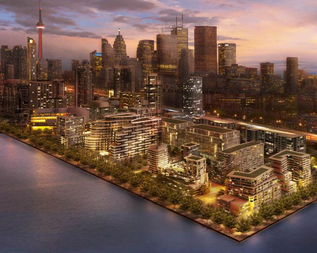 Rendering for Bayside, before Aquabella or The Waves were designed, Toronto