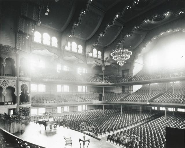 Interior of Massey Hall in 1894, photographer unknown