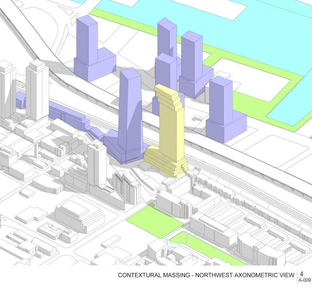 31 Parliament proposal, Toronto, image by Arquitectonica