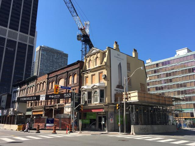 1 Yorkville's heritage component viewed from the northeast on Yonge, image by Ed