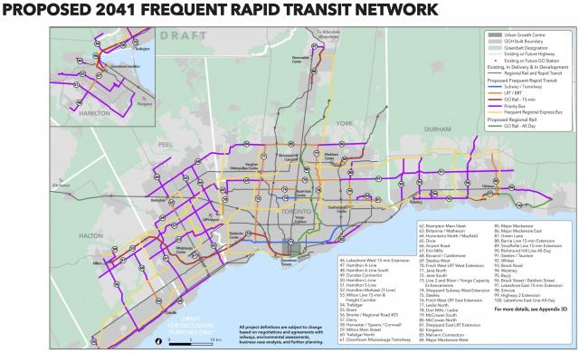 The updated 2041 frequent rapid transit network