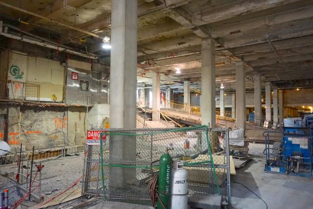Bay Retail under construction, Union Station Revitalization, Toronto