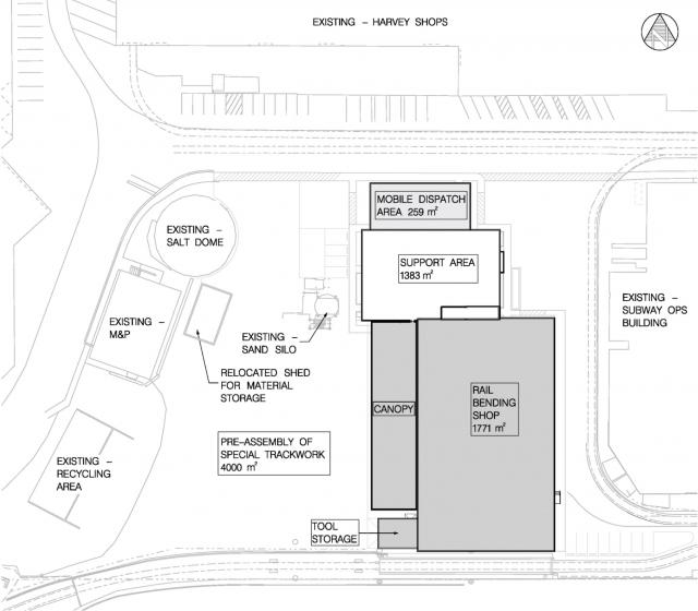 The Site Plan for works at the Hillcrest Complex