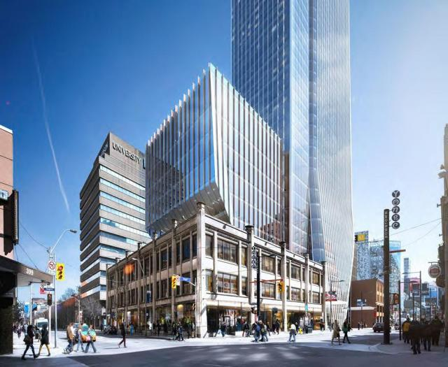 YSL 383 Yonge, Toronto, designed by KPF for Cresford Developments