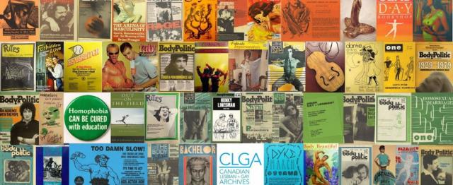 Objects in the collection of the Canadian Lesbian & Gay Archives, clga.ca