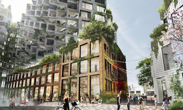 Courtyard at King St West, Toronto, designed by Bjarke Ingels Group for Westbank