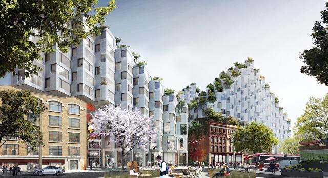 King St. West 2.0 Concept, Toronto, image courtesy of Westbank/Allied/BIG