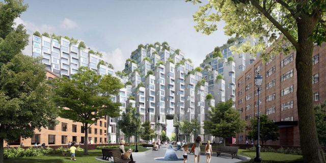 King St. West 2.0 Plan, Toronto, image courtesy of Westbank/Allied/BIG