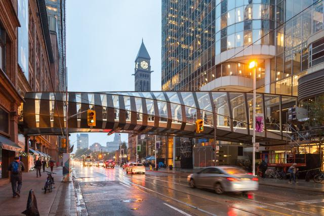 Eaton Centre Bridge, Cadillac Fairview, WilkinsonEyre, Zeidler, PCL, Toronto