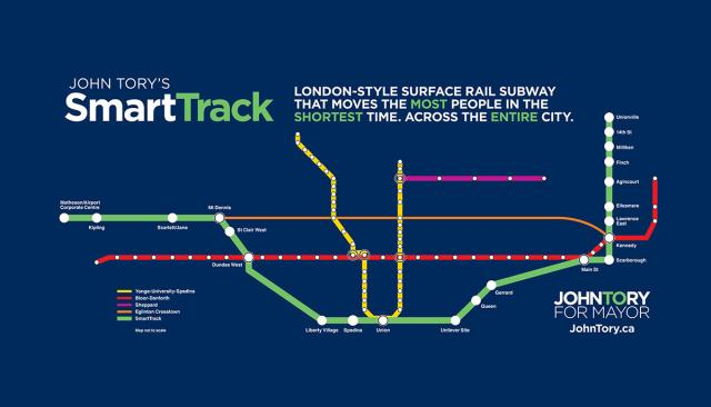 John Tory's SmartTrack plan, part of his 2014 Mayoral campaign platform