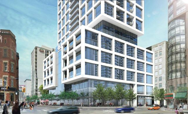 2 Carlton Street podium, new proposal, designed by IBI Group for Northam Realty