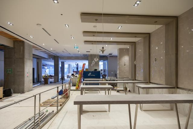 Tables, Harbour Eats by Mercatino, BuildItByDesign, Harbour Plaza, Toronto