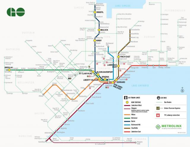 Metrolinx's 12 new stations