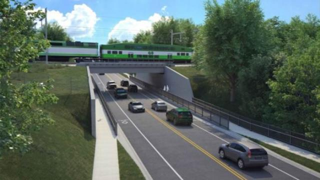 Rendering of the proposed underpass at Scarborough Golf Club Rd