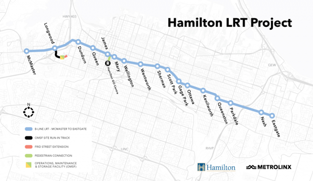The Hamilton LRT, one of the projects the PCs intend to proceed with