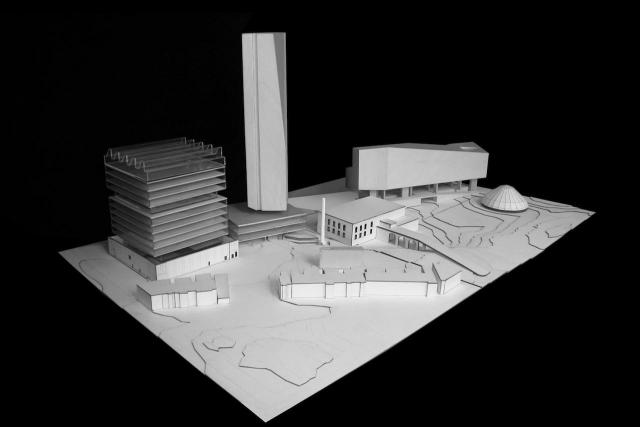 Scale model, 2 Tecumseth, Toronto, designed by KPMB Architects for TAS