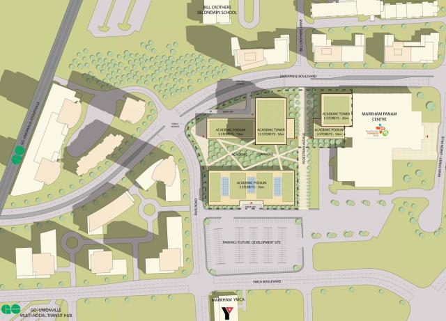 Initial Concept plan, image courtesy of York University
