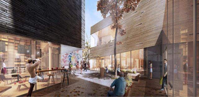 The Mews 101 Yorkville Avenue retail space designed by Neuf Architects, Toronto