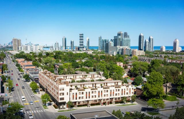 Looking southeast across Royal Q Towns, Toronto, Parallax Investment Corp, IBI