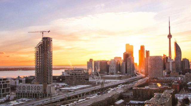 Photo of the Day, Toronto, skyline, sunset, Monde, Daniels Waterfront