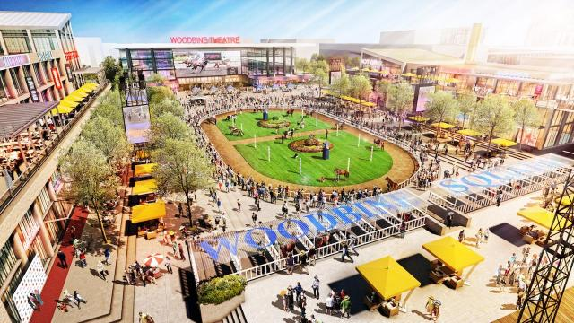Concept plan for the centre of the new Woodbine Racetrack complex, Toronto