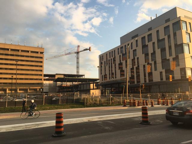 Etobicoke General Hospital with additions rising in September 2017, Toronto